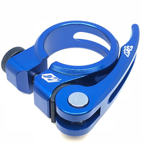TNT Alloy Q/R Seat Post Clamp 31.8mm (Blue)