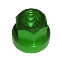 Tuf-Neck Alloy Axle Nut 10mm Green (each)