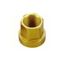 Tuf-Neck Alloy Axle Nut 14mm Gold (each)