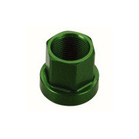 Tuf-Neck Alloy Axle Nut 14mm Green (each)