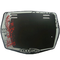 Dirt Design Number Plate Pro (Black)
