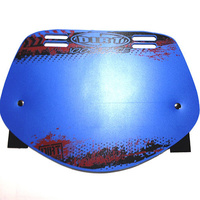 Dirt Design Number Plate Pro-Mid (Blue)