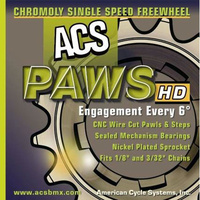 "ACS 18T Paws-HD 3/32"" Chromo (Nickel)"