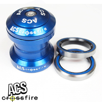 "ACS Crossfire 1"" Alloy Headset Sealed Bearing (Blue)"