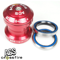 "ACS Crossfire 1-1/8"" Alloy Headset Sealed Bearing (Red)"