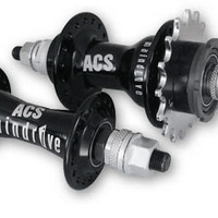 ACS Maindrive Hub F&R Set 28H W/Cogs (Black)