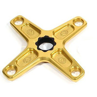 PROFILE Spider 4 Bolt 104pcd 22mm Spline Drive (Gold)