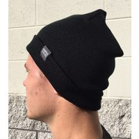 PROFILE Woven Label Beanie (Black)