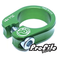 PROFILE Slim Jim S-Post Clamp 25.4mm Green