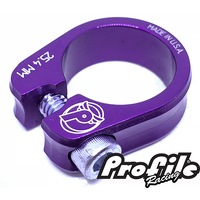 PROFILE Slim Jim S-Post Clamp 25.4mm Purple