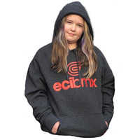 ECIBMX Hoodie Grey-Red (Small)