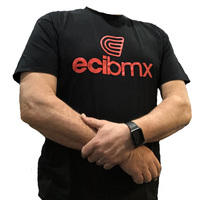 ECIBMX Tee Black-Red (X-Small)