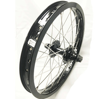 "BMX 16"" Rear Wheel Alenation Black Sheep Rim-TN Sealed 14mm 9T Hub (Black)"