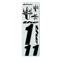 THE Number (inc. 3 numbers & 6 stickers) Black #1