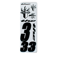 THE Number (inc. 3 numbers & 6 stickers) Black #3
