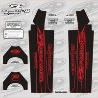 ANSWER Dagger Fork Sticker Wrap 24-Mini (Red)