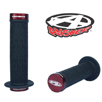 ANSWER Pro Lock-On Flanged Grips (Red)