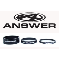 "ANSWER Mini 1"" Alloy Headset Spacer Set 3 (Black)"