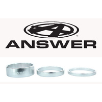 "ANSWER Pro 1-1/8"" Alloy Headset Spacer Set 3 (Polished)"