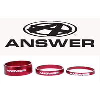 "ANSWER Pro 1-1/8"" Alloy Headset Spacer Set 3 (Red)"