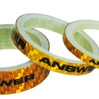 "ANSWER Mini 1"" Carbon Headset Spacer Set 3 (Gold)"