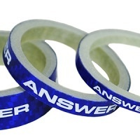 "ANSWER Pro 1-1/8"" Carbon Headset Spacer Set 3 (Blue)"