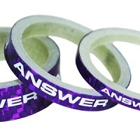 "ANSWER Pro 1-1/8"" Carbon Headset Spacer Set 3 (Purple)"