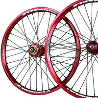 "ANSWER 20 x 1.75"" Pinnacle Pro Wheel Set (Red)"