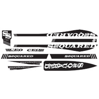 SSQUARED CEO V-2 Frame Sticker (Small-Black)