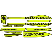 SSQUARED CEO V-2 Frame Sticker (Large-Flo Yellow)