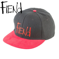 FIEND Logo Snap-Back Hat (Black/Red)