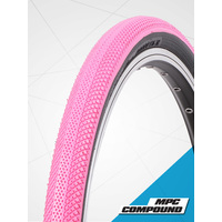 "Vee 20 x 1.1/8"" Speedster Foldable Tyre suit 451 rim (Pink Tread)"