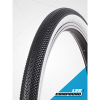 "Vee 24 x 1.50"" Speedster Foldable Tyre suit 507mm (S-Wall White)"