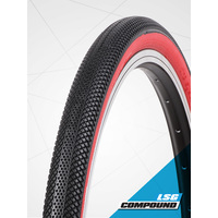 "Vee 24 x 1.75"" Speedster Foldable Tyre suit 507mm (S-Wall Red)"