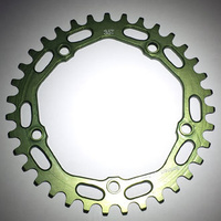 RENNEN 5 Bolt 110 Threaded 35T Chainring (Green)