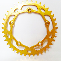 RENNEN 5 Bolt 110 Threaded 40T Chainring (Gold)