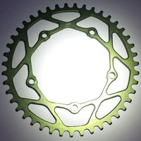 RENNEN 5 Bolt 110 Threaded 43T Chainring (Green)