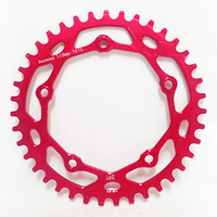 RENNEN 5 Bolt 110 Threaded 43T Chainring (Red)