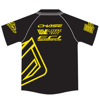 Chase-Lux Polo Shirts Black-Yellow (X-Large)
