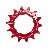 "ELEVN Alloy Cog 3/32"" Shimano Comp. 14T (Red)"