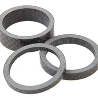 "KINGSTAR 1 1/8"" Headset Spacers (1x3,1x5,1x10mm) Carbon (Black)"