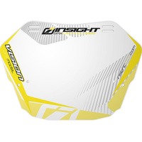 INSIGHT Pro Plate (White Background w/ Yellow)