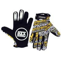 Stay Strong Mash-Up Glove Yellow (Youth Large)