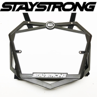 Stay Strong PRO 3D Number Plate (Black)