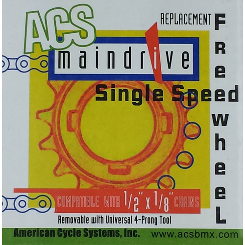 "ACS 16T Main Drive Freewheel 1/2"" x 1/8"""