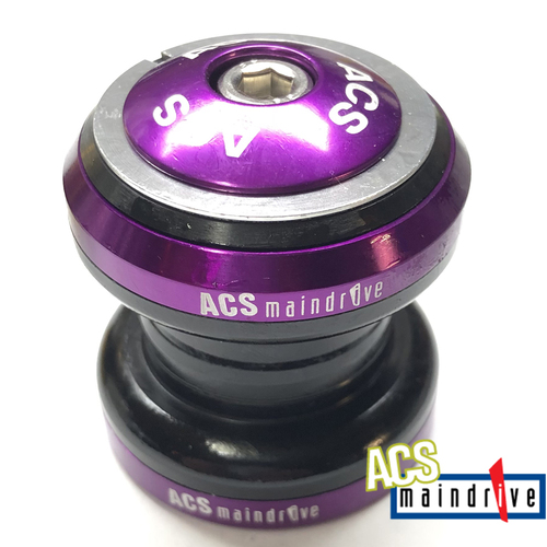 "ACS Maindrive 1"" Steel Headset Sealed Mech. Bearing (Purple)"