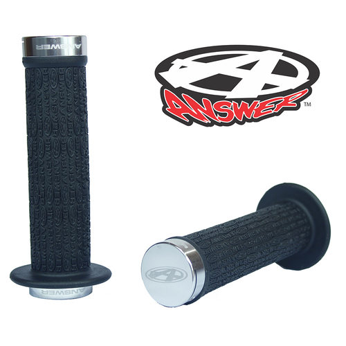 ANSWER Pro Lock-On Flanged Grips (Polished)
