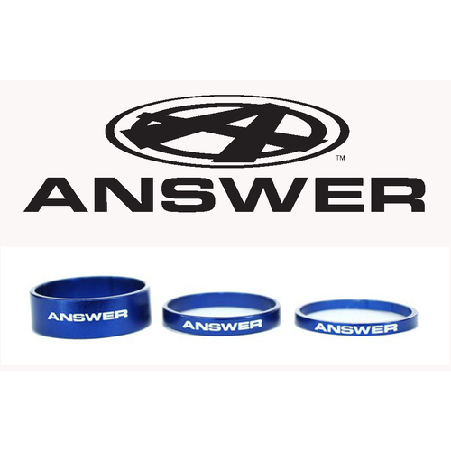"""Answer Carbon Headset Spacers 3 Pack 1/""""1//8th Silver"""