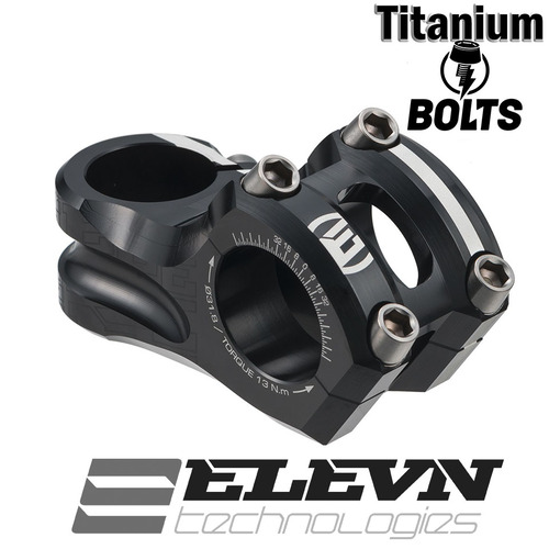 "ELEVN Overbite 31.8mm Stem 1-1/8"" 60mm with Ti-Bolts (Black)"
