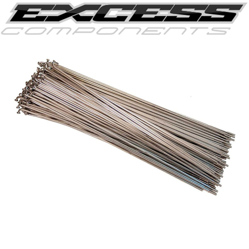 EXCESS Stainless Steel Spokes 80pack 216mm (Silver)